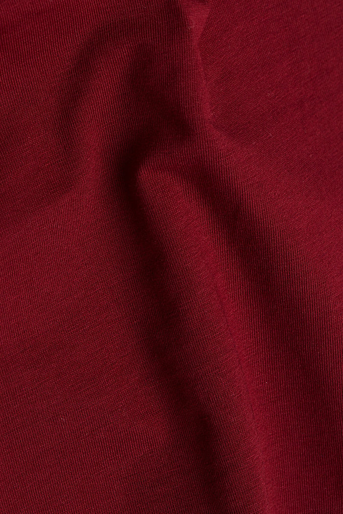 Long sleeve top with organic cotton, BORDEAUX RED, detail image number 4