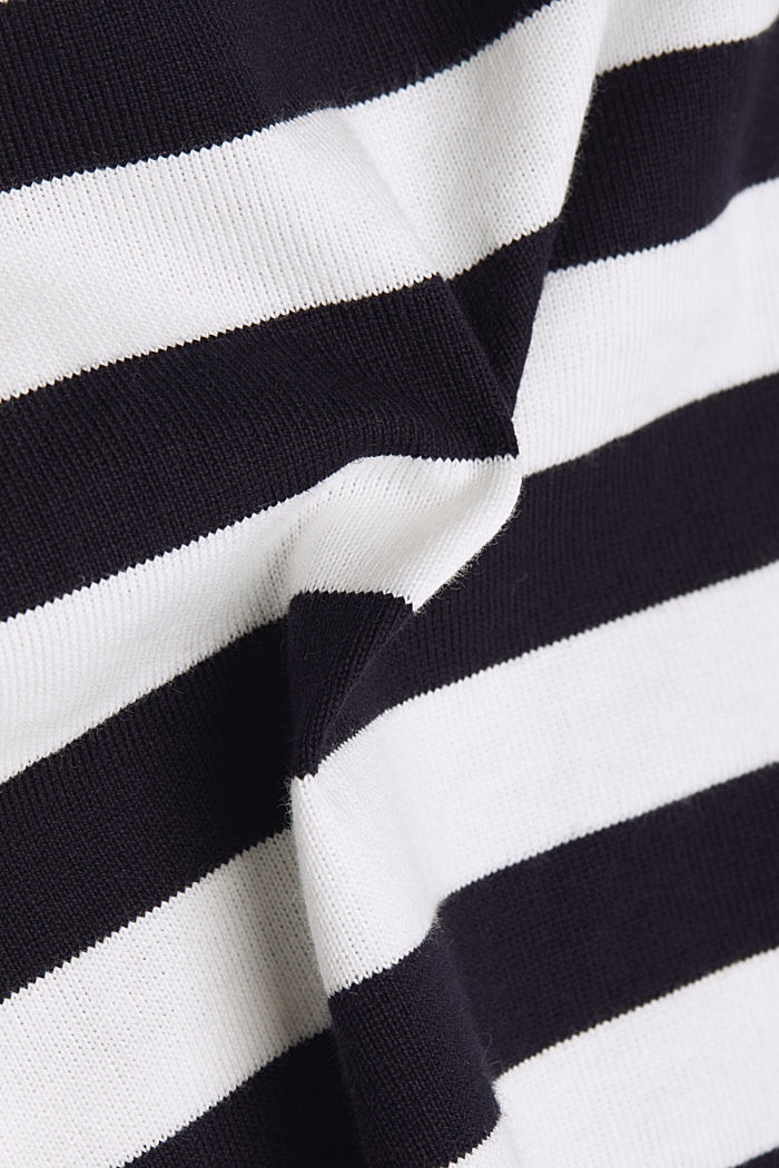 Long sleeve top made of 100% cotton, OFF WHITE, detail image number 4