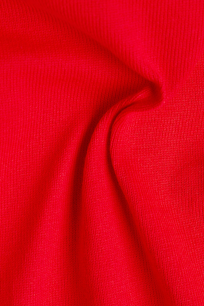 Long sleeve top made of 100% cotton, RED, detail image number 4