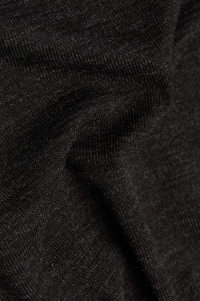 Long sleeve top with glittery thread, BLACK, detail image number 4