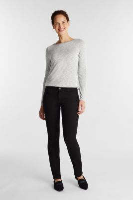 Long sleeve top with glittery thread, LIGHT GREY 5, detail