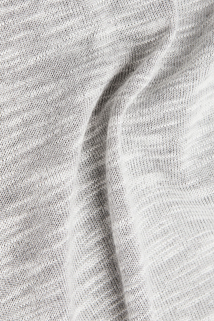 Long sleeve top with glittery thread, LIGHT GREY, detail image number 4
