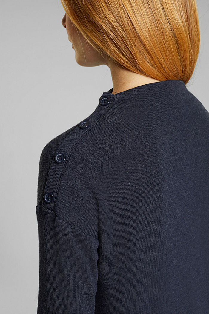 Soft long sleeve top with LENZING™ ECOVERO™, NAVY, detail image number 2