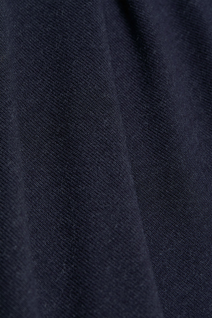 Soft long sleeve top with LENZING™ ECOVERO™, NAVY, detail image number 4