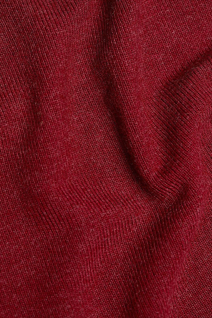 Soft long sleeve top with LENZING™ ECOVERO™, BORDEAUX RED, detail image number 4
