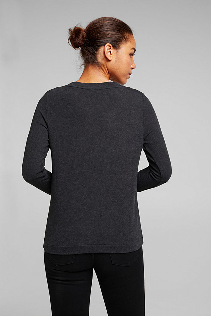 Soft long sleeve top with LENZING™ ECOVERO™, GUNMETAL, detail image number 3