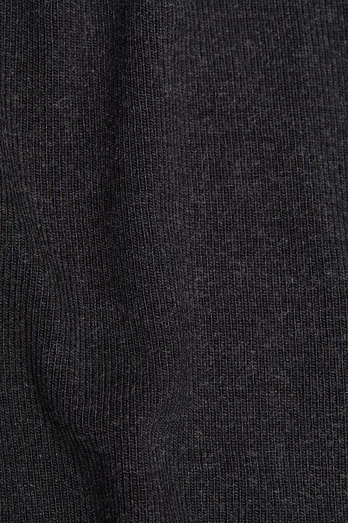 Soft long sleeve top with LENZING™ ECOVERO™, GUNMETAL, detail image number 4