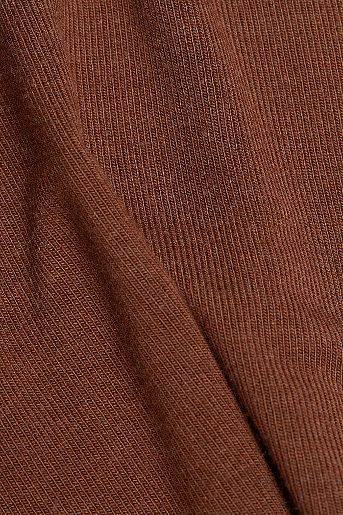 Soft long sleeve top with LENZING™ ECOVERO™, BROWN, detail image number 4