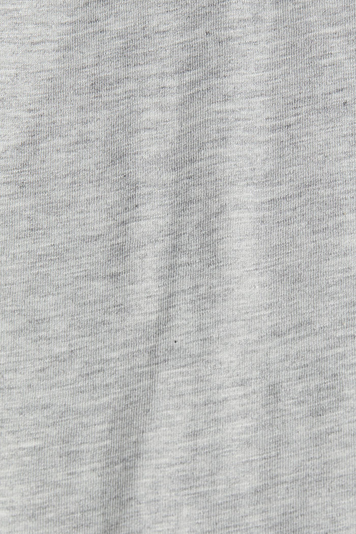 Print long sleeve top with organic cotton, LIGHT GREY, detail image number 4