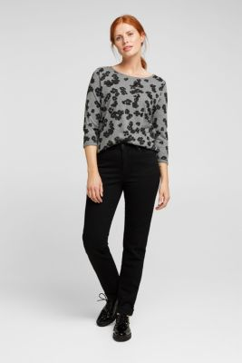 Top with sequins and organic cotton, GUNMETAL 5, detail