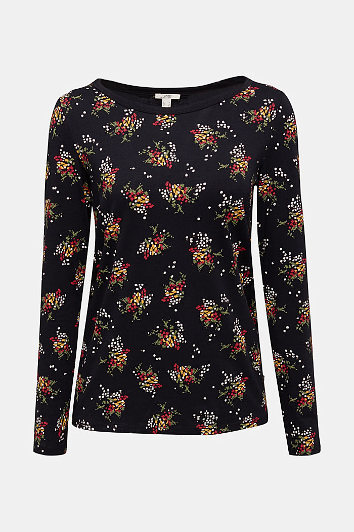 Mille-fleurs long sleeve top with organic cotton