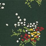 Mille-fleurs long sleeve top with organic cotton, DARK GREEN, swatch