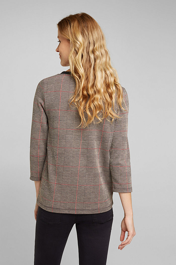 Jacquard top with checks, RED, detail image number 3