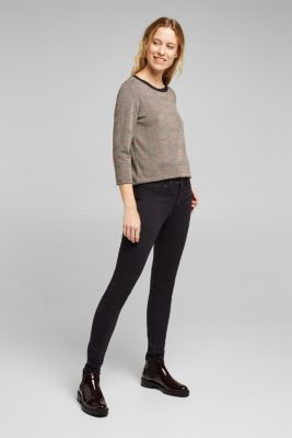 Jacquard top with checks, RED, detail