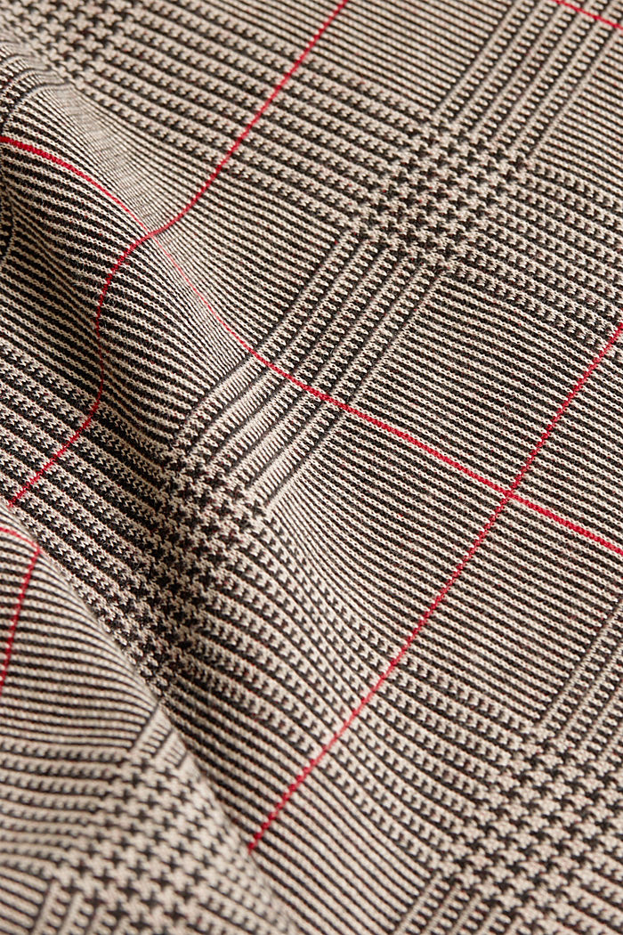 Jacquard top with checks, RED, detail image number 4
