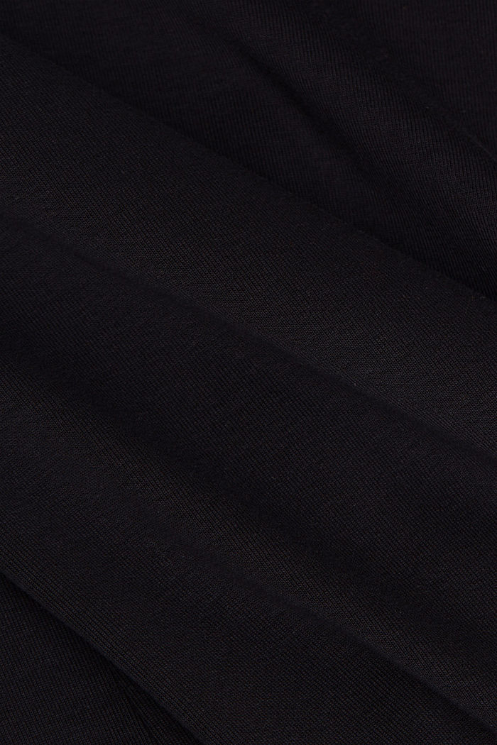 Long sleeve top made of 100% organic cotton, BLACK, detail image number 4