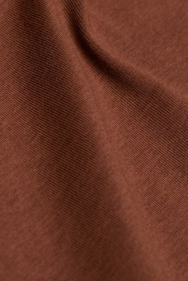 Long sleeve top made of 100% organic cotton, BROWN 4, detail