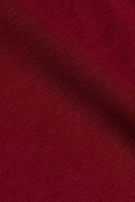 Long sleeve top made of 100% organic cotton, BORDEAUX RED 4, detail