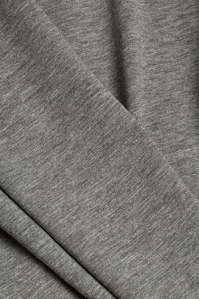 Organic cotton-jersey T-shirt, GUNMETAL, detail image number 4