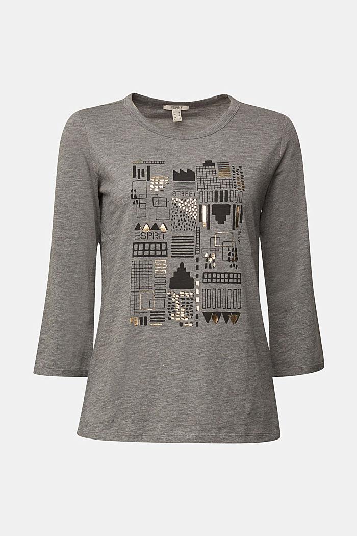 Organic cotton-jersey T-shirt, GUNMETAL, detail image number 5