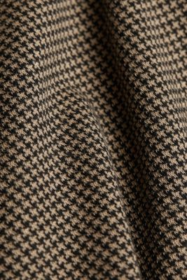 Jacquard top with a houndstooth pattern, CAMEL, detail