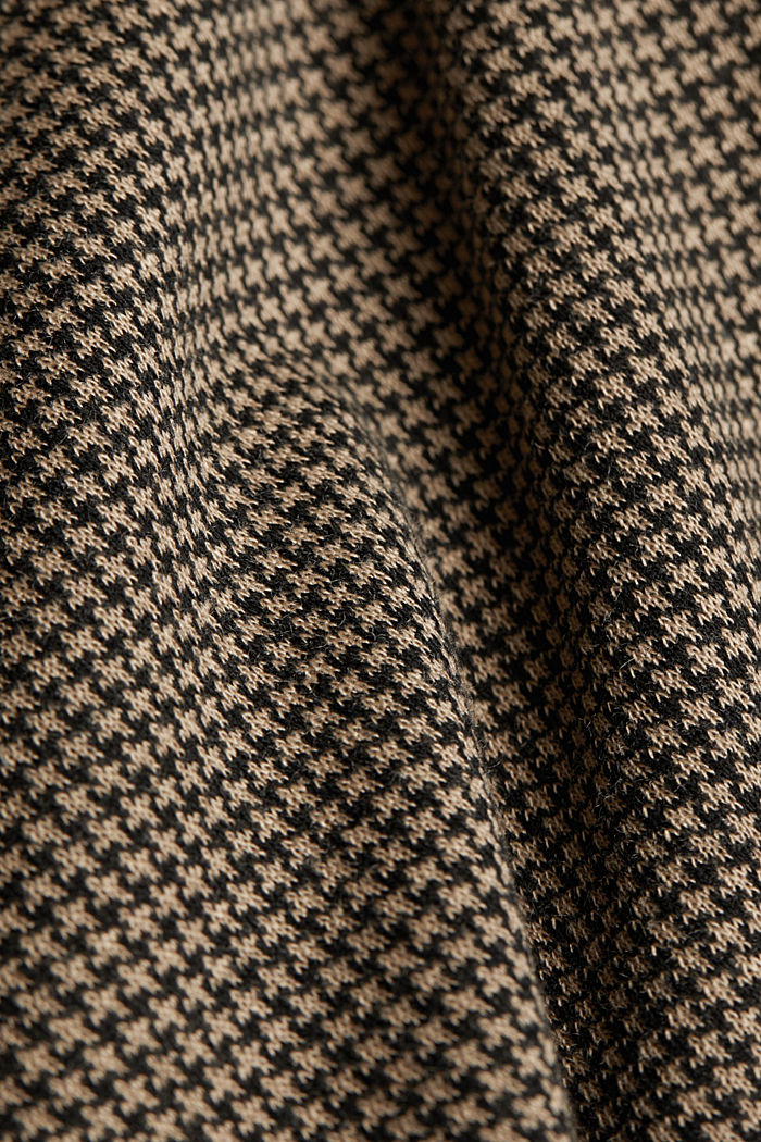 Jacquard top with a houndstooth pattern, CAMEL, detail image number 4