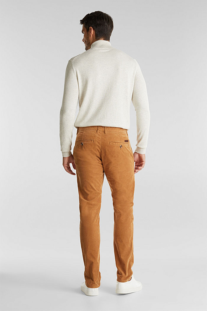 Corduroy trousers with organic cotton, CAMEL, detail image number 3