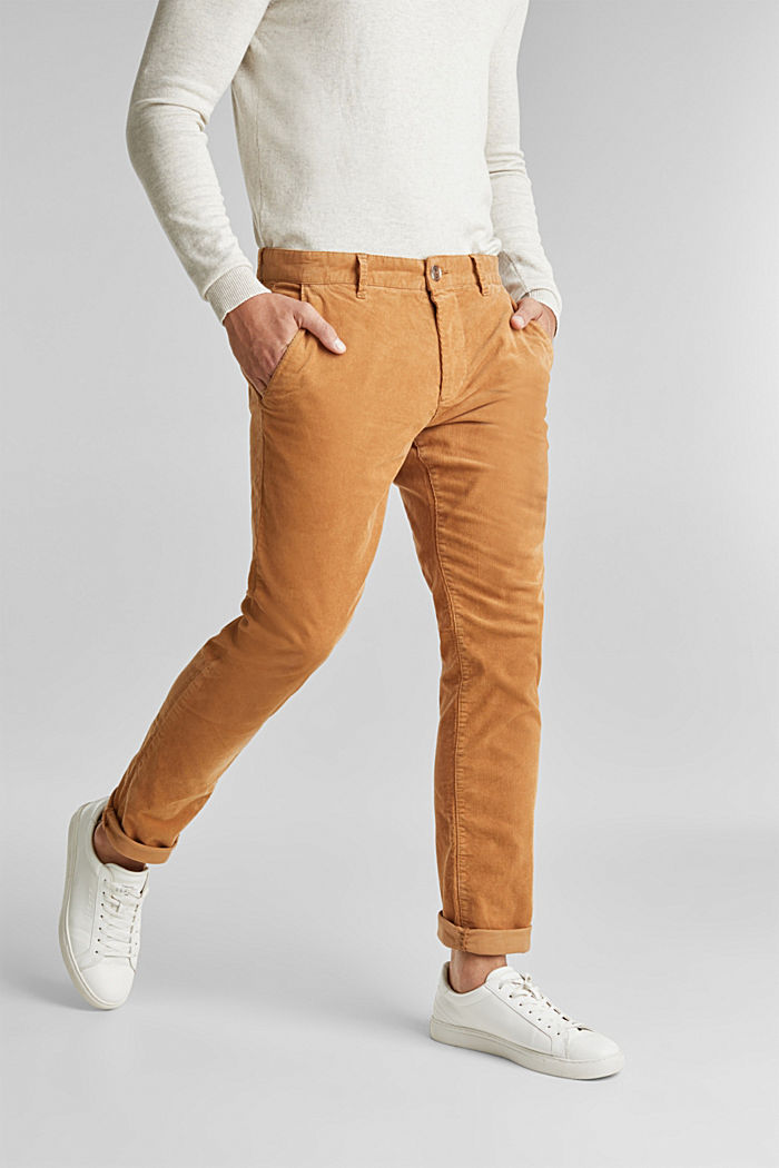 Corduroy trousers with organic cotton, CAMEL, detail image number 5