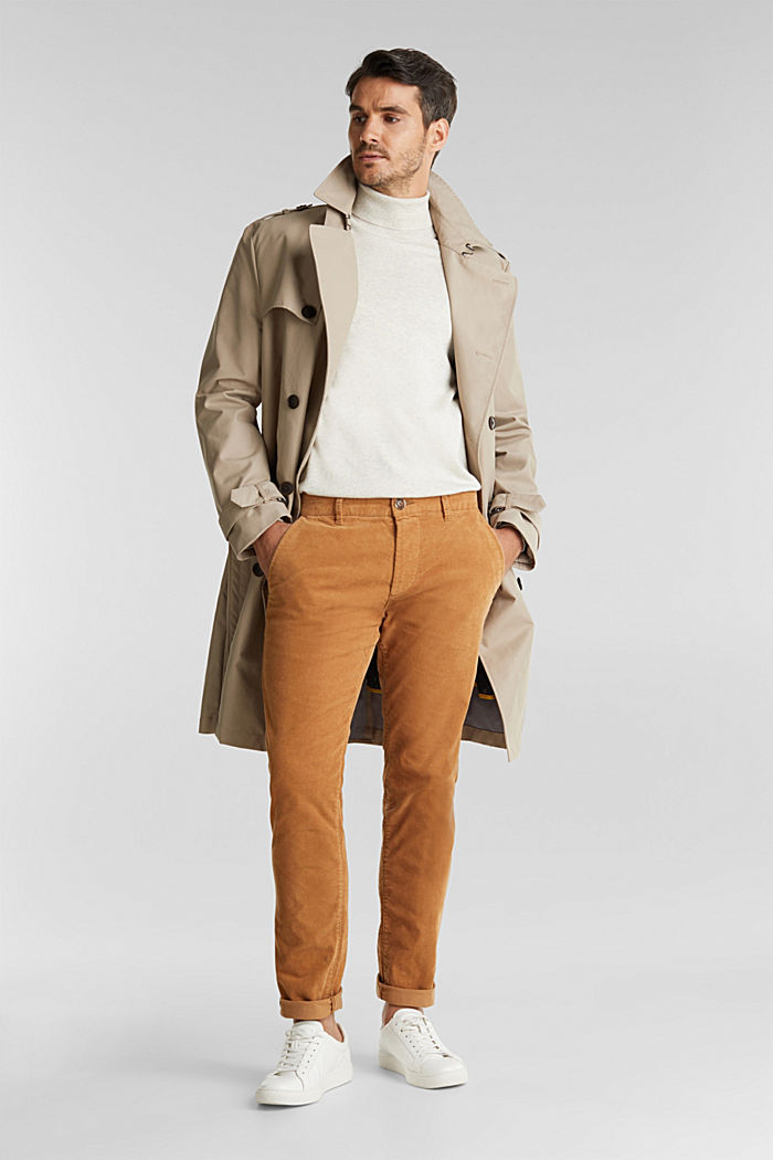 Corduroy trousers with organic cotton, CAMEL, detail image number 1