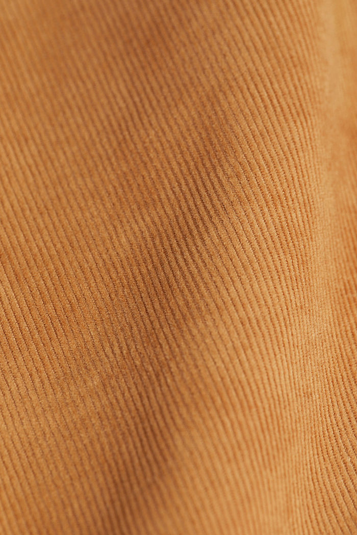 Corduroy trousers with organic cotton, CAMEL, detail image number 4
