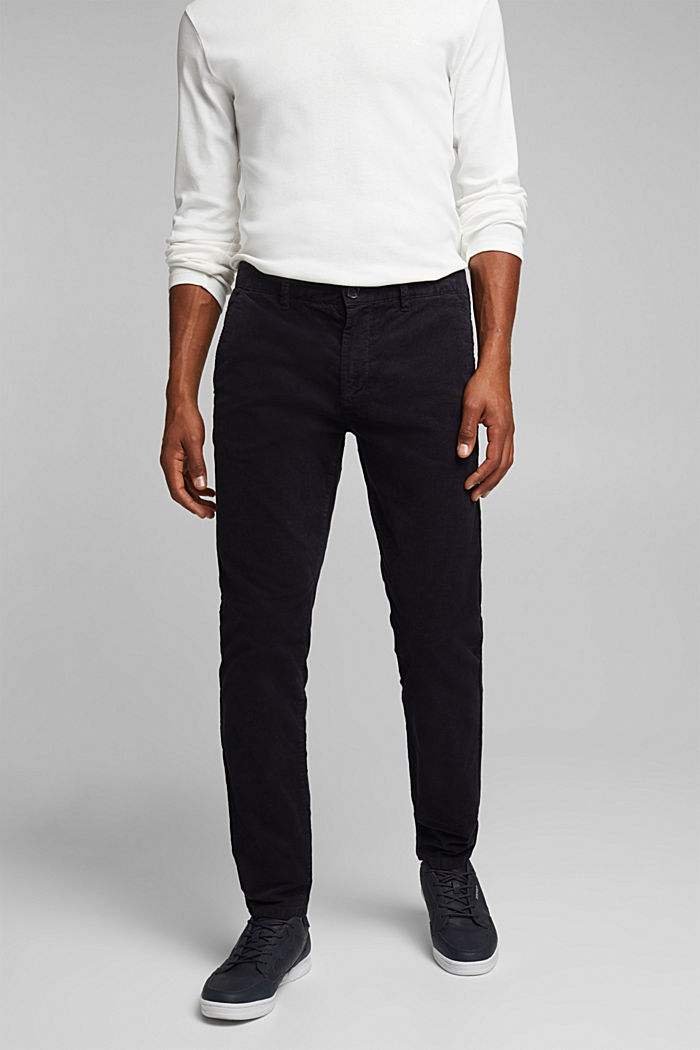 Corduroy trousers with organic cotton, DARK BLUE, detail image number 5