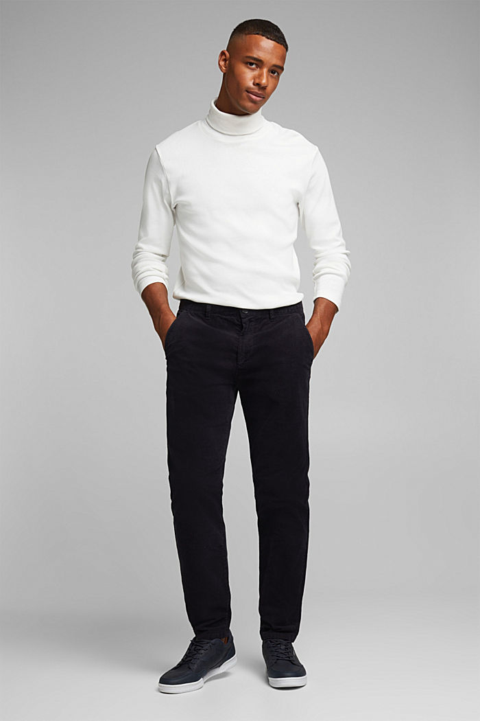 Corduroy trousers with organic cotton, DARK BLUE, detail image number 6