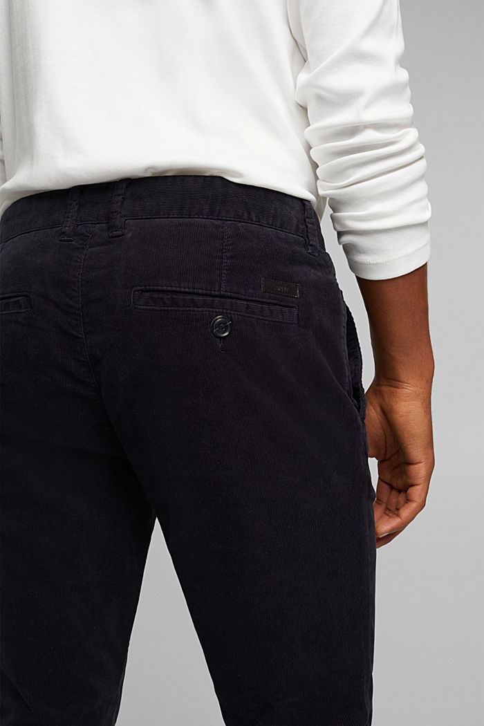 Corduroy trousers with organic cotton, DARK BLUE, detail image number 4