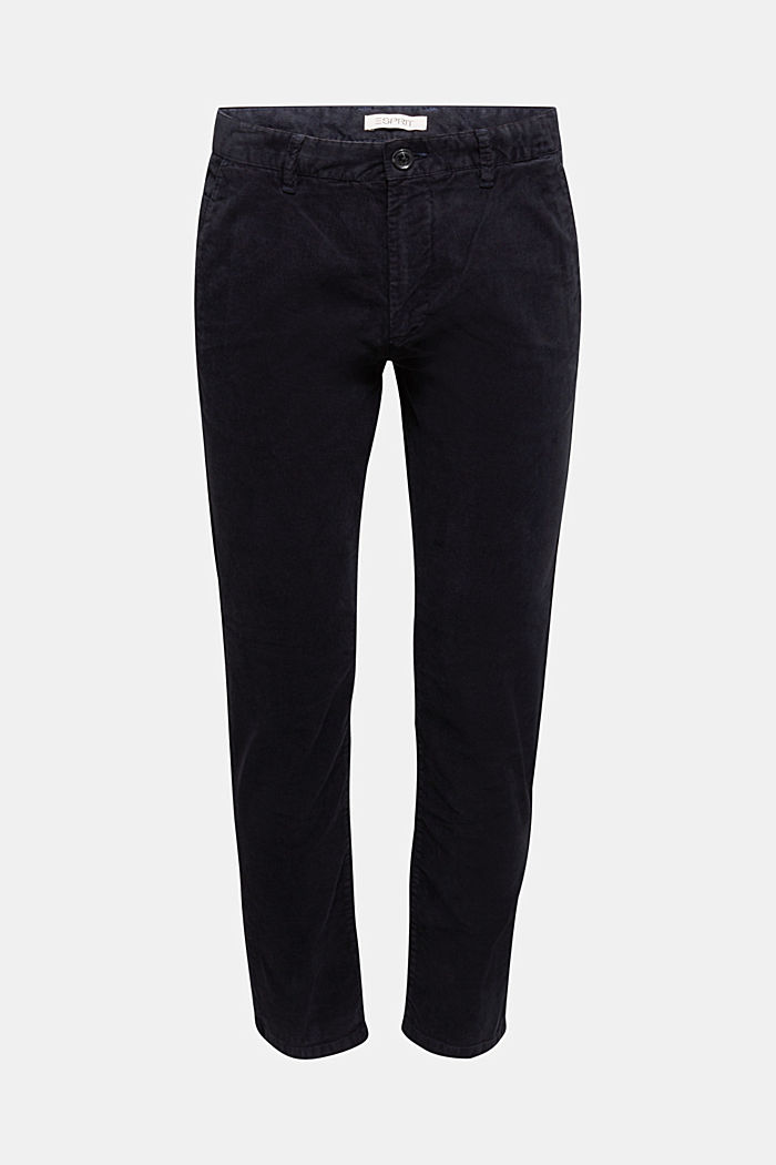 Corduroy trousers with organic cotton, DARK BLUE, detail image number 7