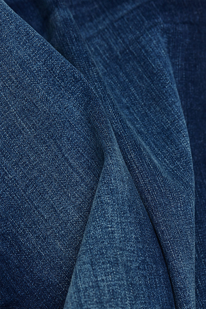 Recycelt: Jeans mit Organic Cotton, BLUE DARK WASHED, detail image number 5