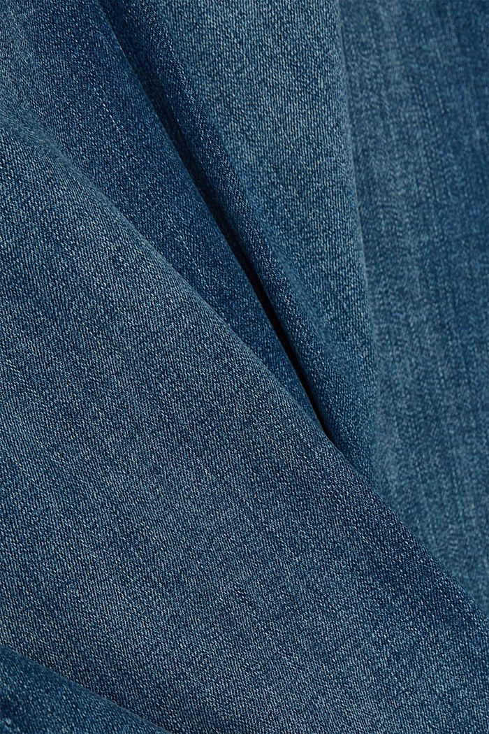 Recycled: organic cotton blend jeans, BLUE MEDIUM WASHED, detail image number 4