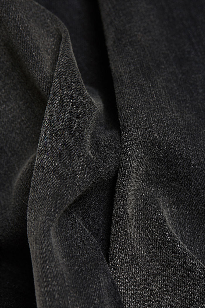 Recycled: organic cotton blend jeans, GREY MEDIUM WASHED, detail image number 4