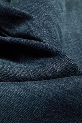 Stretch jeans with a washed-out look, BLUE DARK WASH, detail