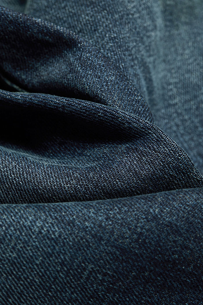 Stretch jeans with a washed-out look, BLUE DARK WASHED, detail image number 4
