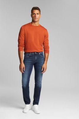 Stretch jeans in a garment wash, BLUE DARK WASH, detail