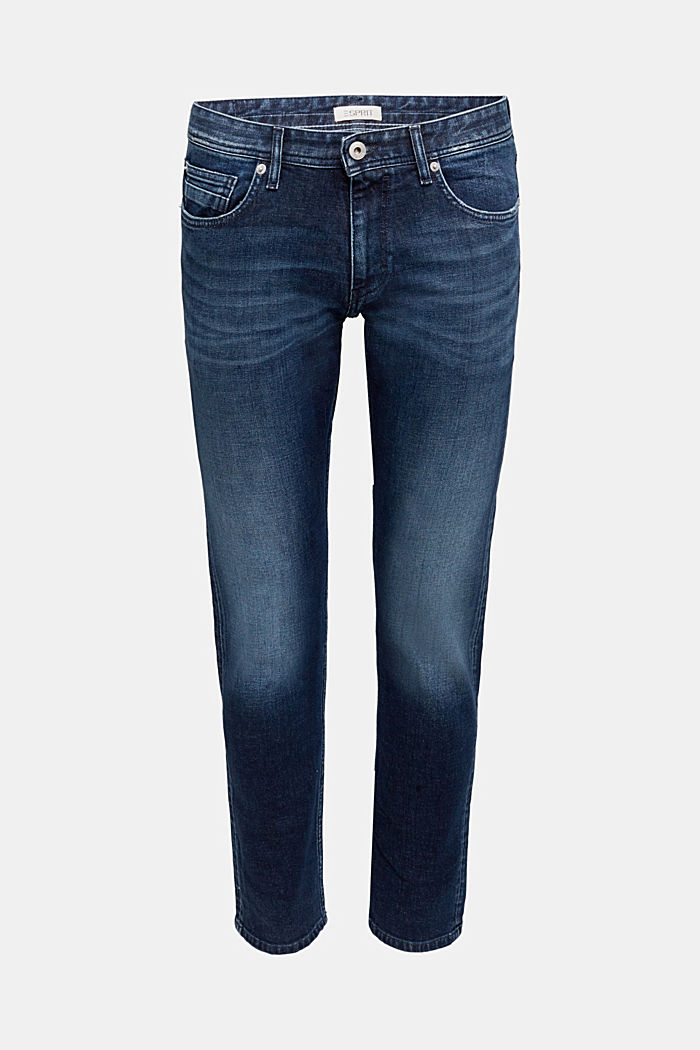 Stretch jeans in a garment wash