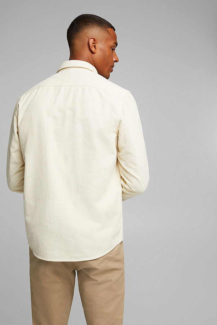 Corduroy shirt made of 100% organic cotton, CREAM BEIGE, detail image number 3