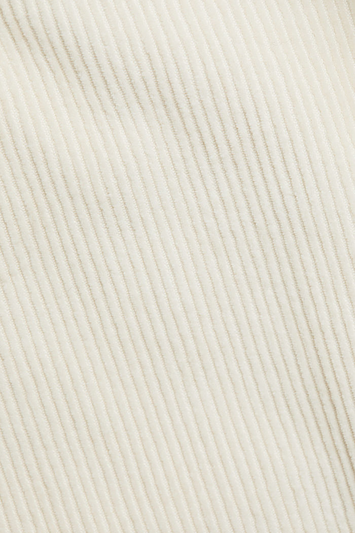 Corduroy shirt made of 100% organic cotton, CREAM BEIGE, detail image number 4