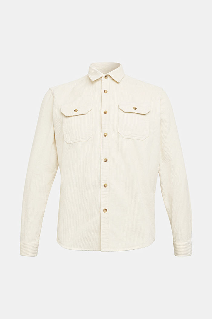 Corduroy shirt made of 100% organic cotton, CREAM BEIGE, detail image number 6