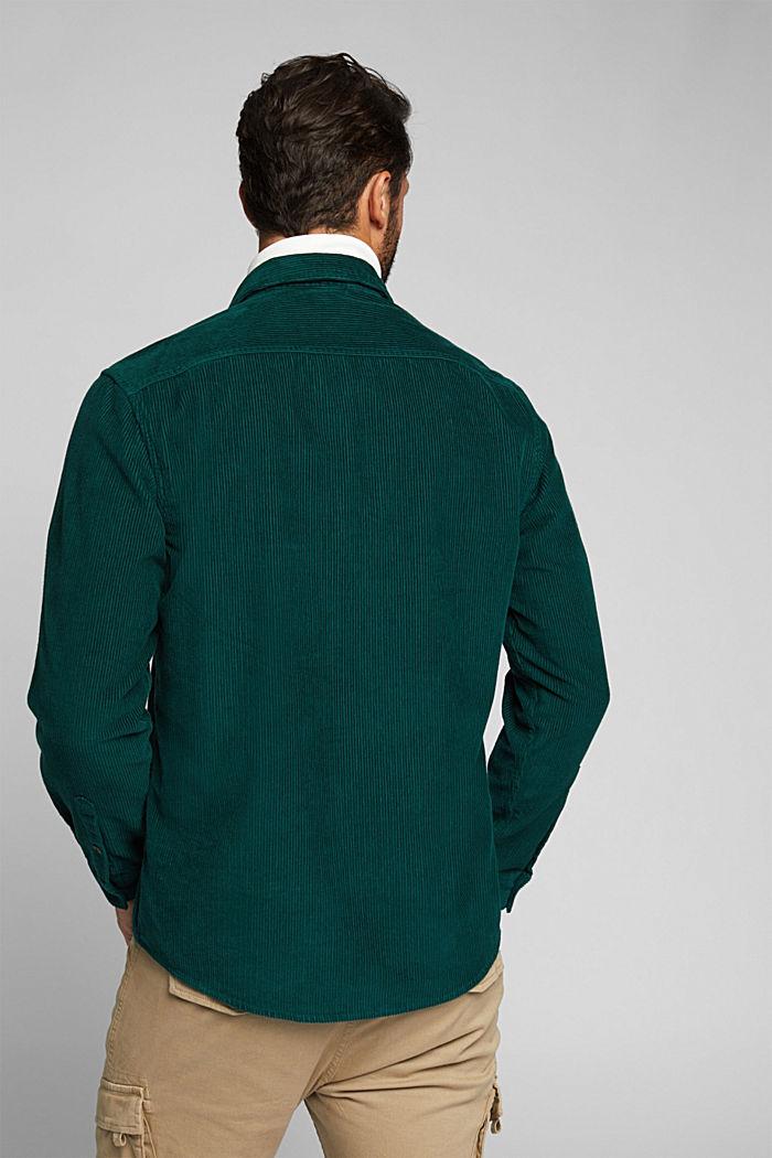 Corduroy shirt made of 100% organic cotton, BOTTLE GREEN, detail image number 3