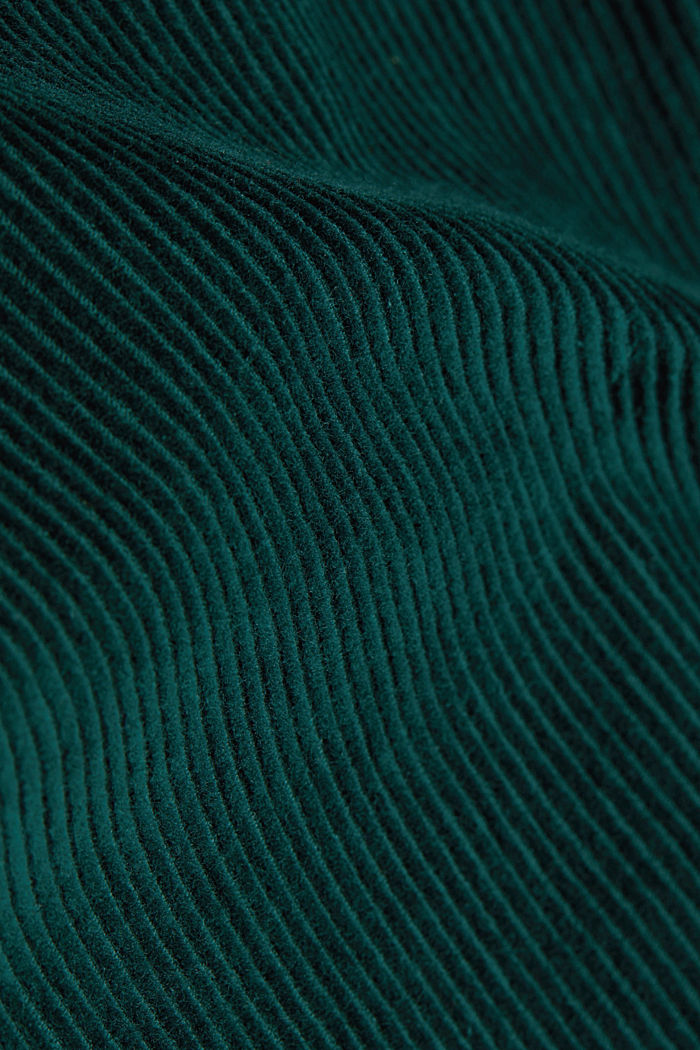 Corduroy shirt made of 100% organic cotton, BOTTLE GREEN, detail image number 4