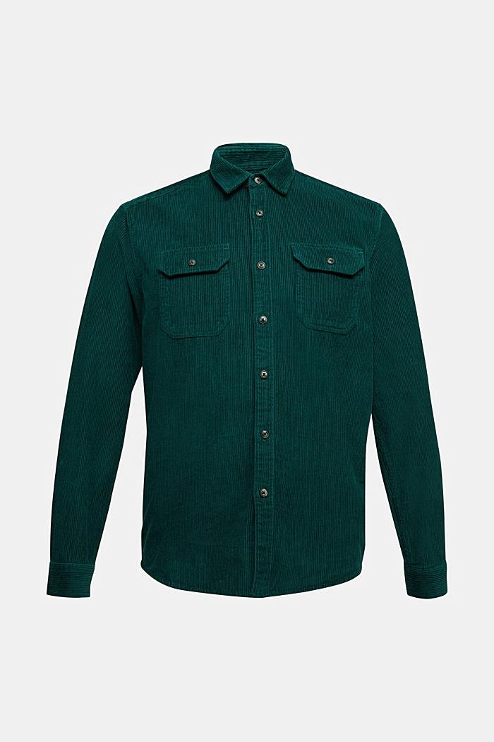 Corduroy shirt made of 100% organic cotton, BOTTLE GREEN, detail image number 5