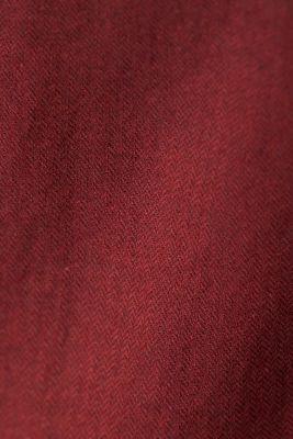 Brushed herringbone pattern shirt, 100% organic cotton, BORDEAUX RED 5, detail