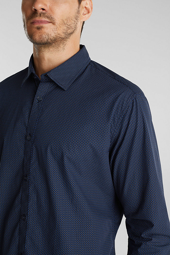 Shirt with a minimalist print, 100% organic cotton, NAVY, detail image number 2