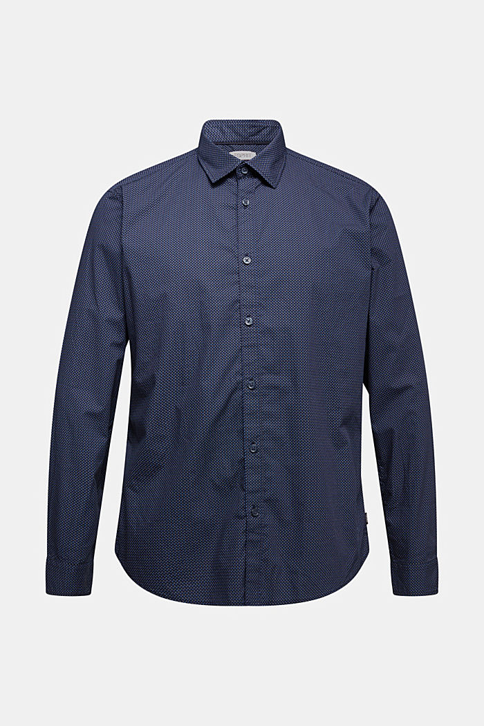 Shirt with a minimalist print, 100% organic cotton, NAVY, detail image number 5